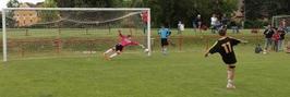 Vítězná penalta rozstřelu nej střelce